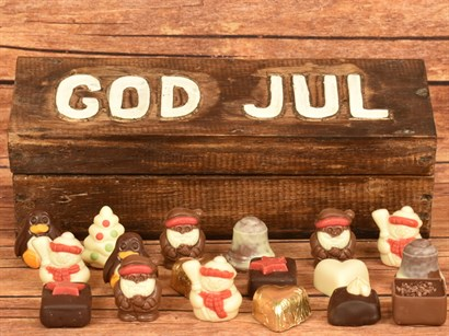 GOD JUL & Julechokolade 18 stk. ca. 240 gram