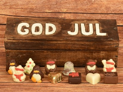 GOD JUL & Julechokolade 12 stk. ca. 160 gram