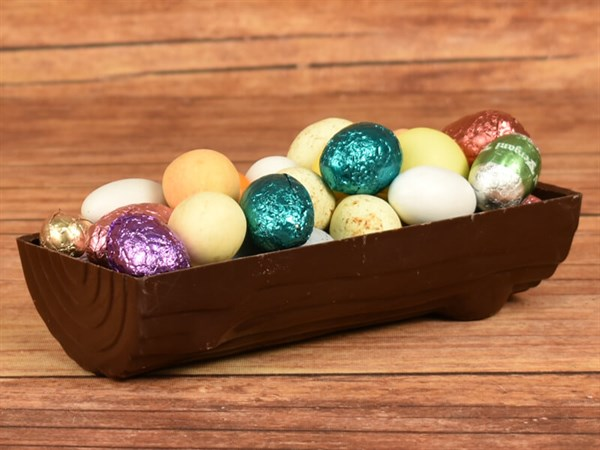 Påskeæg i chokolade Træstammer